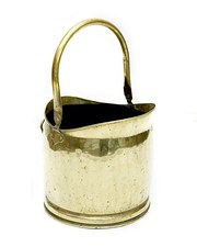 Victorian Brass Coal Bucket