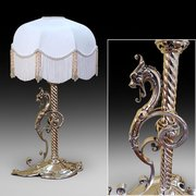 Victorian Brass Night Candle Stand