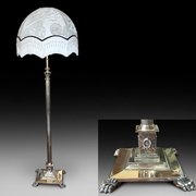 Victorian Brass Standard Extending Lamp