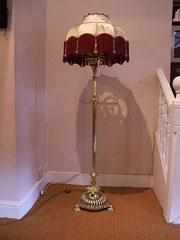 Victorian Brass Standard Lamp