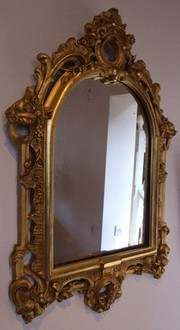 Victorian British Gilt Framed Mirror