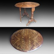 Victorian Burr Walnut Sutherland Table