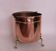 Victorian Copper Log Bucket