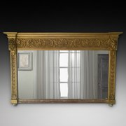 Victorian Giltwood Over Mantle Mirror