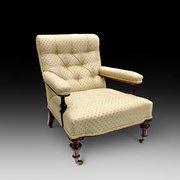 Victorian Mahogany Easy Armchair