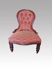 Victorian Mahogany Nursing Chair