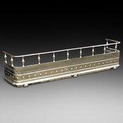 Victorian Pierced Brass Fender