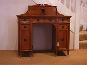 Victorian Satinwood Kneehole Desk
