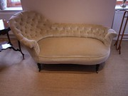 Victorian Scroll End Chaise Lounge