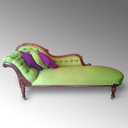 Victorian Walnut Chaise Lounge