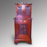 Victorian Walnut Coal Bunker