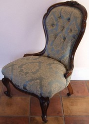 Victorian Walnut Spoonback Nursing Chair