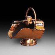 Victorian copper coal dispenser