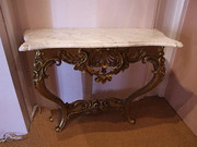 Victorian gilt wood console table