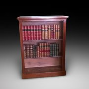 Victorian mahogany open front bookcase
