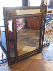 Victorian mirror  with bevelled glass
