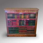 Victorian walnut dwarf bookcase