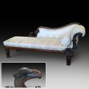 Willam IV Rosewood Chaise Longue