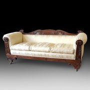 William IV Carved Mahogany Framed Settee
