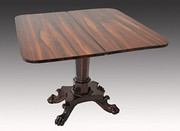 William IV Goncalo Alves Tea Table