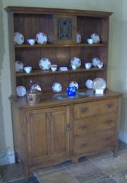 Art Nouveau Oak Dresser c1900