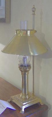 Pair of Victorian Brass Oil Lamps