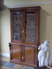 Victorian Mahogany Cupboard Bookcase