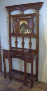 Edwardian Art Nouveau Mahogany Hallstand
