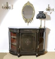 Victorian Ebonised Bow Ended Credenza