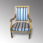 giltwood framed armchair/fautiel
