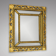 late 19th century carved giltwood mirror