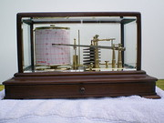Early 20th century Mahogany Barograph