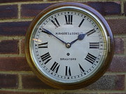 Antique Fusee wall clock by Manoah Rhodes
