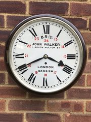 Railway fusee wall clock