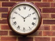 Verge fusee wall clock