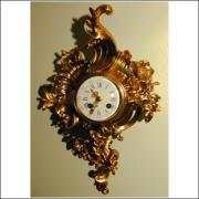 French 8 day bell striking cartel clock