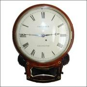 Fusee drop dial wall clock