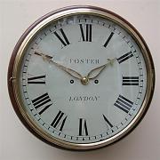 Bell striking fusee wall Clock