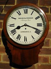 Antique Victorian Fusee Wall Clock