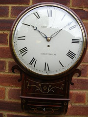 Antique 19th Century Fusee Wall Clock