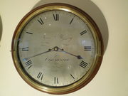silver dial wall clock