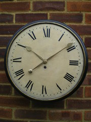 wood dial fusee wall clock