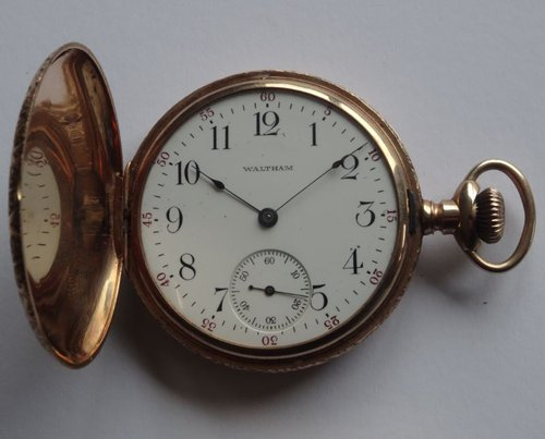 14CT Gold Waltham Hunter Cased Pocket Watch
