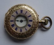 18CT Gold Half Hunter Pocket Watch, John Bennett