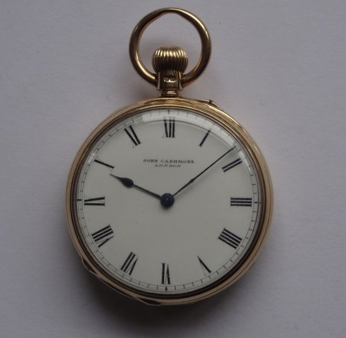 18CT Gold Pocket Watch, J Cashmore, London c1888