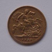 22CT Gold Victorian Half Sovereign, 1897