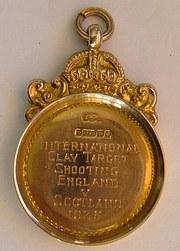 9CT Gold England v Scotland Shooting Medal