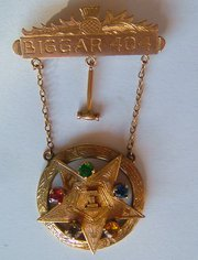 9CT Gold Order of the Eastern Star Medal