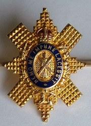 9CT Gold Scottish Black Watch Brooch