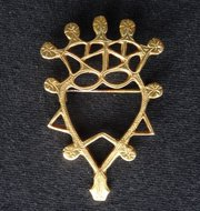9CT Gold Scottish Luckenbooth Brooch, Edinburgh